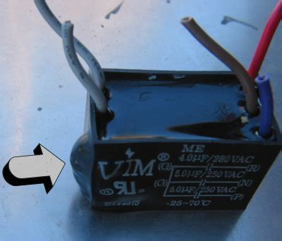 ceiling fan speed capacitor ceiling fan capacitor solutions conscious junkyard