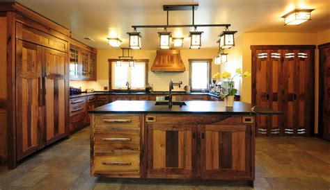 cocinas rusticas elegancia de madera - Muebles De Cocina Madera Rustica
