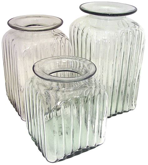 blown glass canisters collection bone kitchen