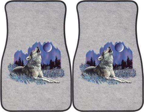 Wolf Car Mats by Wolf Howling At Moon Car Mats