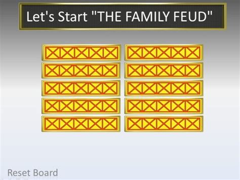 Family Feud Powerpoint Template Powerpoint Presentation Free Family Feud Template