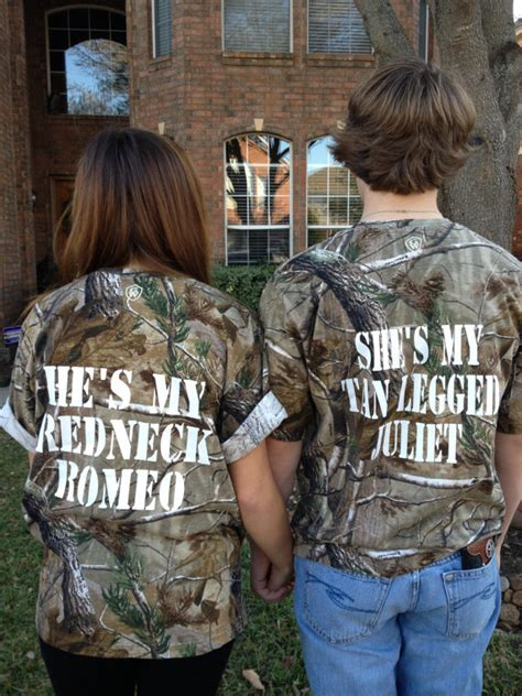 Matching Shirts For Country Couples Couples Camo Romeo Juliet From Polkadotpeeps On Etsy
