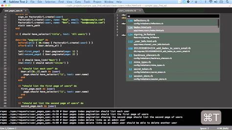 sublime text 3 ruby theme using sublime text 2 with ruby on rails youtube