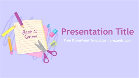 Free Back To School Powerpoint Template Prezentr Back To School Ppt Template Free