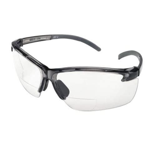 msa safety works bifocal safety glasses with clear lenses