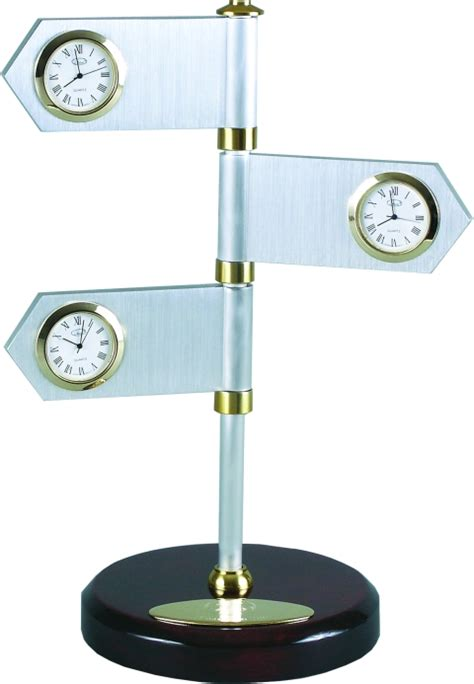 Multi Time Zone Desk Clock by Road To Success Multi Time Zone Clock Desk Sculpture