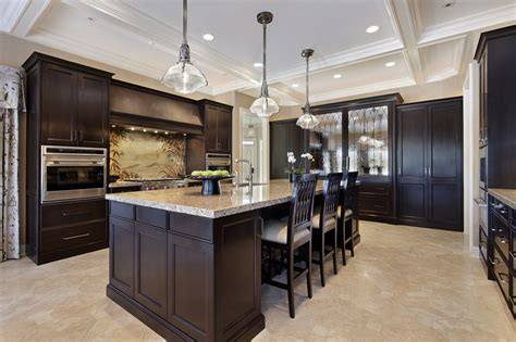 dark wood cabinet kitchens 124 custom luxury kitchen designs part 1