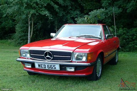 classic red mercedes mercedes benz 500sl classic convertible 1988 signal red