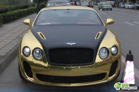 matte gold bentley bentley continental supersports in gold and black in china