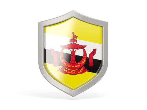 icon design brunei shield icon illustration of flag of brunei