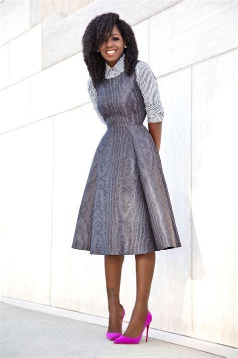 Finneah Stripes Flare Midi Dress striped shirt fit flare midi dress my style pantry dress styles and black