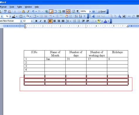 Word Table by Erase Table In Microsoft Word 2003 Microsoft Office Support