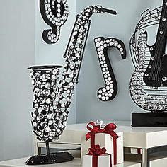 decorations musical musical decor on decor guitar and sheet