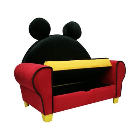 mickey mouse sofa set minnie mouse kids flip open sofa with slumber bag party