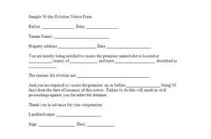 template notice to vacate 30 day notice to vacate template real estate forms