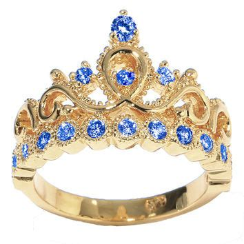 best gold princess crown ring products on wanelo