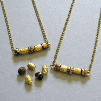 Paper Bead Jewelry Ideas - paper bead bar necklaces by martin project jewelry