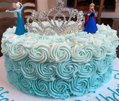 frozen princess rosette cake cakecentralcom