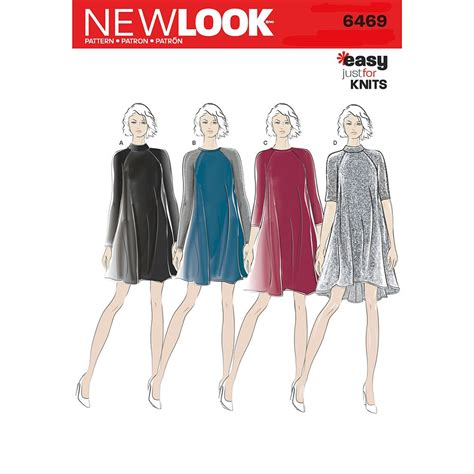 Knit Dress 20 misses easy knit dress new look sewing pattern 6469 sew