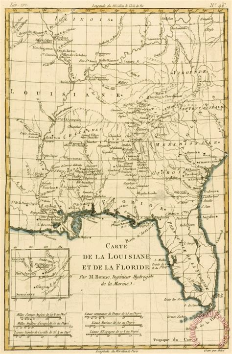 louisiana map for sale guillaume raynal antique map of louisiana and florida