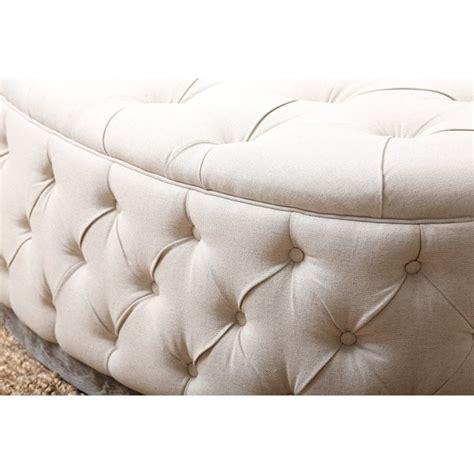 oval tufted ottoman abbyson living beachwood oval tufted ottoman in beige hs