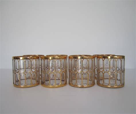 Barware For Sale Vintage Barware Rocks Cocktail Glasses In 24 Karat Gold By