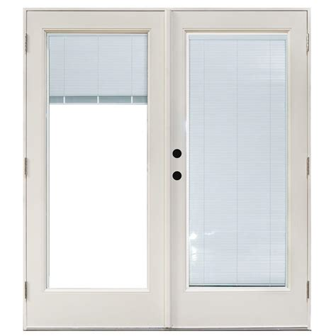 Fiberglass Patio Door Masterpiece 58 3 4 In X 79 1 4 In Fiberglass White Right Outswing Hinged Patio Door With