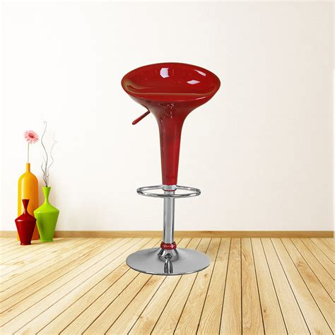 Dining Stools 2 Pcs Gloss Bar Seat Chair 360 Degree Swivel Bar