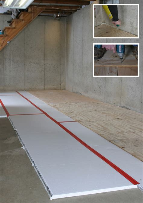 basement floor insulation green basement renovation adding a home greenbuildingadvisor