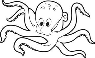 octopus coloring page free printable octopus coloring page for