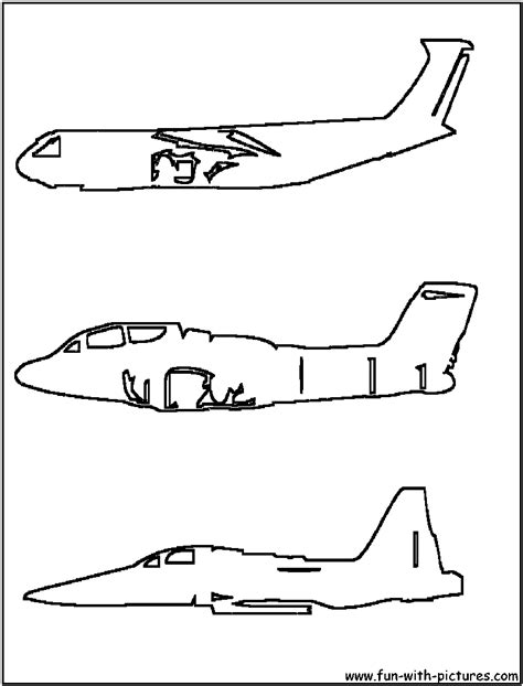 coloring page airplane outline airplanes outline coloring page