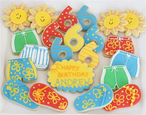 Summer Decorated Cookies by Glorious Treats Summer Cookies Cookie Decorating