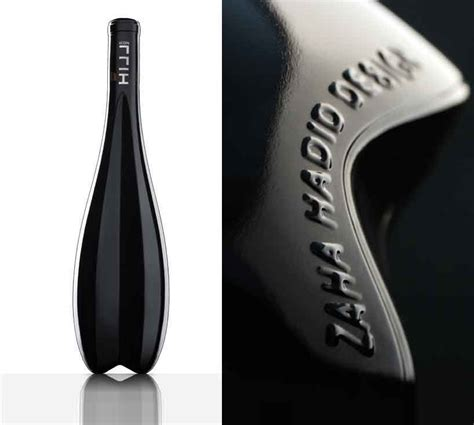 icon design wine first bottle design by zaha hadid icon hill for leo