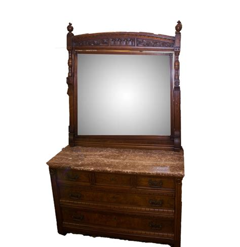 Antique Marble Top Dresser With Mirror by Antique To Vintage Marble Top Eastlake Dresser With Mirror