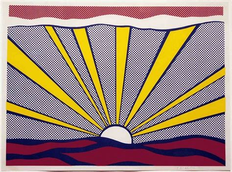 roy lichtenstein cuadros roy lichtenstein sunrise 1965 leslie sacks gallery