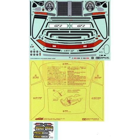 Porsche Sticker Aufkleber by Tamiya Aufkleber Sticker Porsche 911 Gt2 1 10