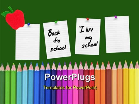 school theme with reminders on the chalkboard powerpoint
