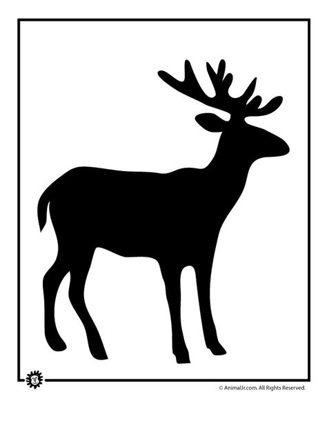 reindeer silhouette template 111 best animal templates images on