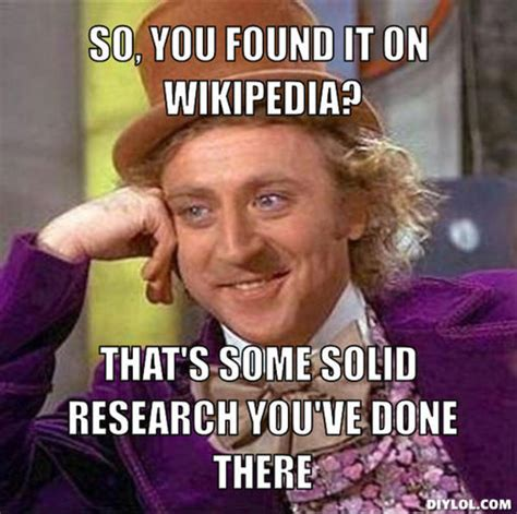 Wikipedia Meme - hack college never write a paper again rand owens