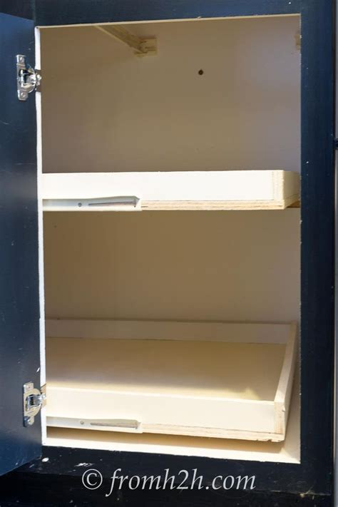 blind cabinet pull out shelves 1000 ideas about pull out shelves on slide