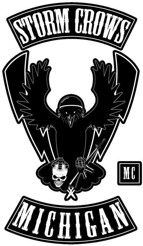 Motorcycle Club Logo Template Stormcrows Mc Logo Gif Biker Colors Motorcycle Clubs Biker Patch Template