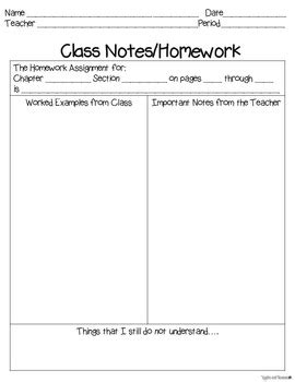 Math Note Taking Worksheet Math Best Free Printable Worksheets Note Taking Template