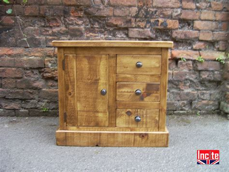 Handmade Pine Furniture - handcrafted plank combination bedside cabinet by incite