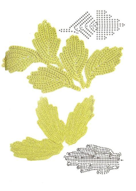 crochet pattern large leaf big leaves crochet kingdom