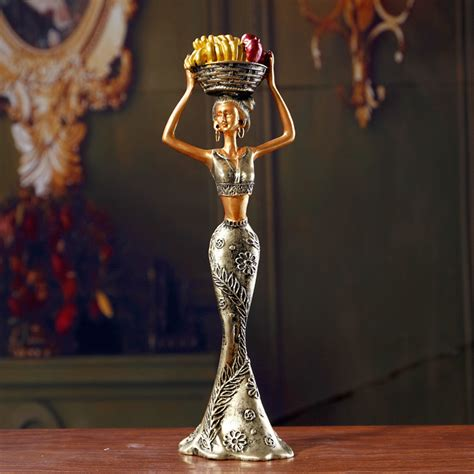 decorative figurines for home home accessories exotic african woman resin figurines