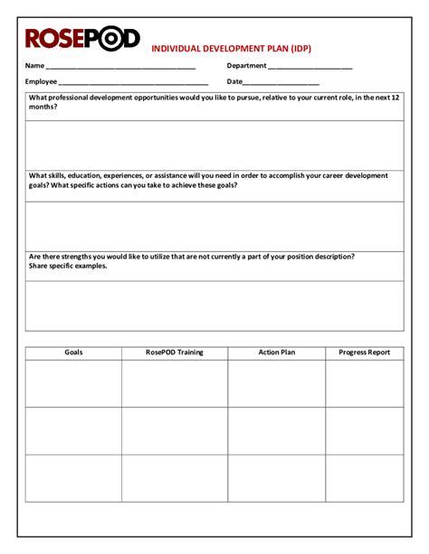 employee development plan template excel pertamini co