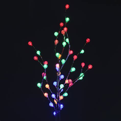 multi coloured led novelty bonsai pineapple tree table