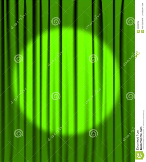 Spotlight Green by Green Curtain With A Spotlight Royalty Free Stock Images