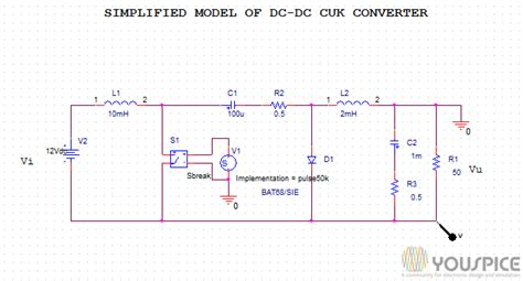 switched mode power supply simulation with spice the faraday press edition books simplified model of dc dc cuk converter youspice