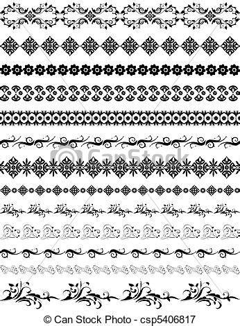 oriental arabesque pattern vector free border oriental arabesque pattern vectors illustration